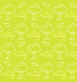seamless pattern with eco friendly text vector image vector image