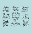 set 9 hand lettering christian quotes god bless vector image vector image