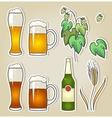 set beer vector image vector image