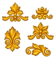 Set of baroque ornamental antique gold scrolls and vector image vector image