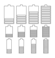 Set of linear battery icons vector image vector image