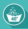 set of washing symbols icon vector image