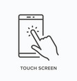 smartphone line icon outline vector image