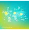 Social Media Circles Network Icon vector image vector image
