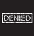 stamp denied text vector image