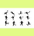 succer icon set vector image vector image