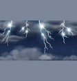 thunderstorm on raining sky vector image