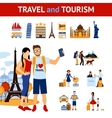 Travel And Tourism Elements Set vector image vector image