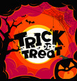 trick or treat halloween vector image vector image