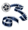 videotapes and films isolated on a white vector image vector image