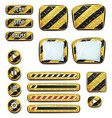 warning icons and elements for ui game vector image vector image