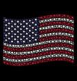 waving united states flag stylization of blot vector image vector image