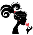 woman's silhouette vector image