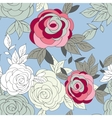 pink peony flower seamless pattern vector image