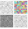 100 different professions icons set variant vector image vector image