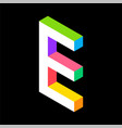 3d colorful letter e logo icon design template vector image vector image