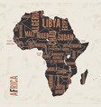 africa vintage detailed map print poster design vector image