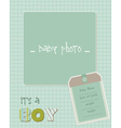 baboy arrival card with photo frame in vector image vector image