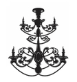 Baroque Elegant Wall lamp with ornaments vector image vector image