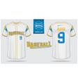 baseball jersey or raglan t-shirt sport template vector image