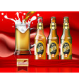 beer ads design three different types of beer vector image