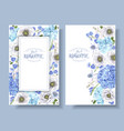 blue anemone banners vector image vector image