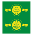 Brazil badges old school style vector image vector image