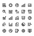 business charts and diagrams line icons 3 vector image vector image