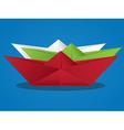 Cartoon Paper Boat2 vector image vector image