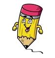 Cartoon school pencil vector image vector image