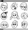 children or teens characters set vector image vector image