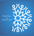 christmas background with snowflake with shadow vector image