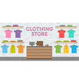 clothing store interior vector image