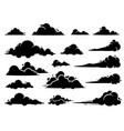 cloud graphic design a set clouds in sky vector image