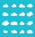 cloud icon sky clouds set cloud set vector image