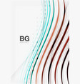 color stripes wave lines modern geometric vector image vector image