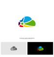 colorful cloud logo design concept cloud paint vector image vector image