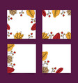 cute autumn banners set vector image vector image