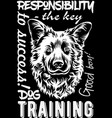 dog print for t-shirts embroidery embroidery on vector image vector image
