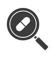 drugstore and medicine search glyph icon vector image vector image