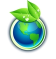 Earth eco button vector | Price: 1 Credit (USD $1)