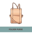 fashion bag isolated on white vector image vector image