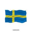 flag sweden vector image vector image
