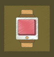 flat shading style icon digital watch vector image vector image