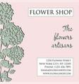 flower shop visitcard banner flyer poster vector image
