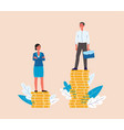 glass ceiling and gender discrimination concept vector image vector image