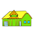 green cottage icon icon cartoon vector image vector image