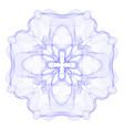 guilloche graphics vector image vector image