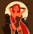halloween devil vector image vector image