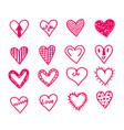 hearts icon design vector image vector image